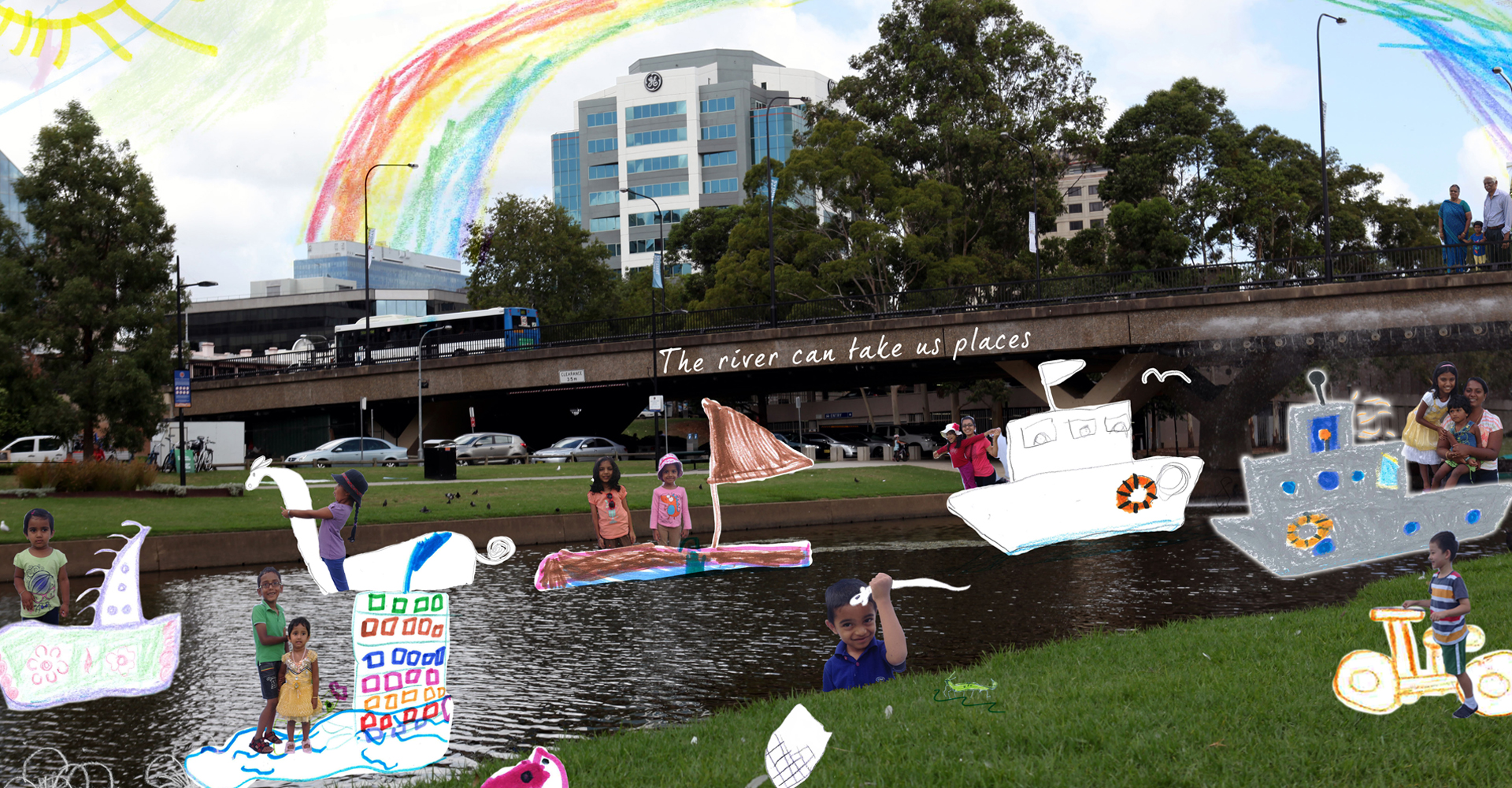 Family Creative Hub @ Parramatta River Foreshore (2015) - Information & Cultural Exchange
