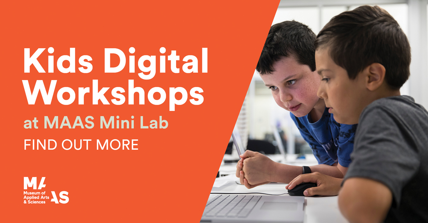 Full day kids digital workshops @ MAAS Mini Lab - Information & Cultural Exchange