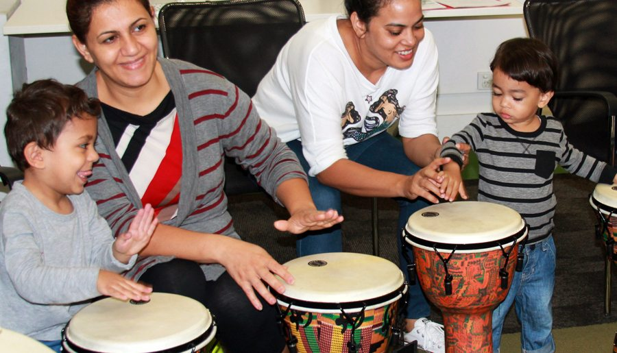These mums and bubs have rhythm! - Information & Cultural Exchange