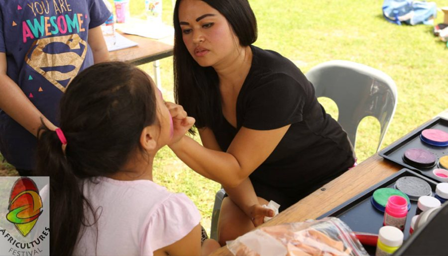 Fantastic face painting with Stephanie - Information & Cultural Exchange
